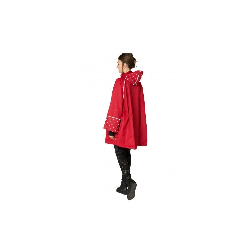 Cape rouge/rouge à pois réfléchissants
