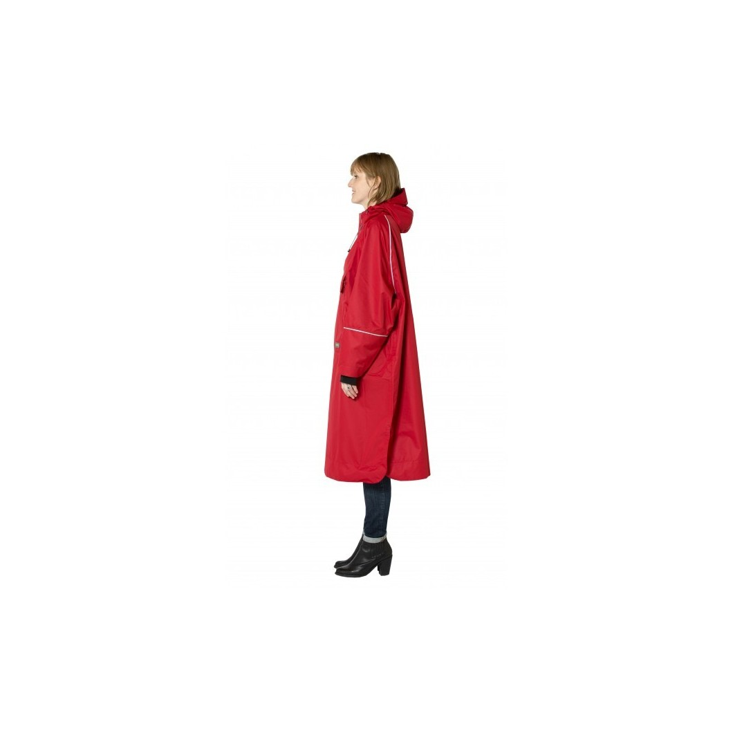 Poncho rouge
