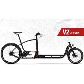 Vélo cargo biporteur DOUZE CYCLES V2 Classic 2020 VÉLO ÉLECTRIQUE
