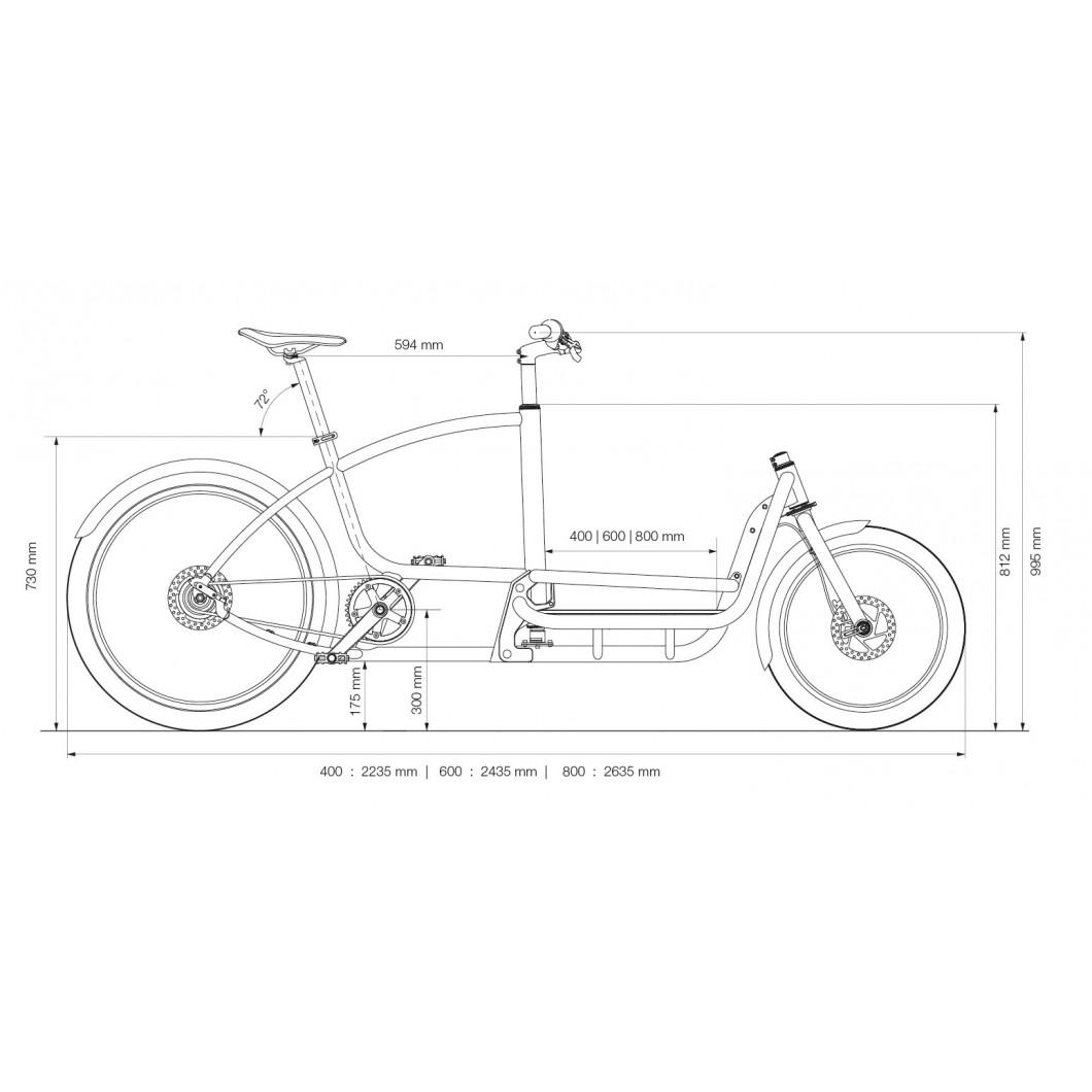Vélo cargo biporteur DOUZE CYCLES V2 Classic 2020