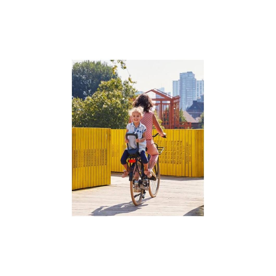 Siège enfant junior avec cale-pieds URBAN IKI avec fixation pour porte-bagages arrière de vélo électrique