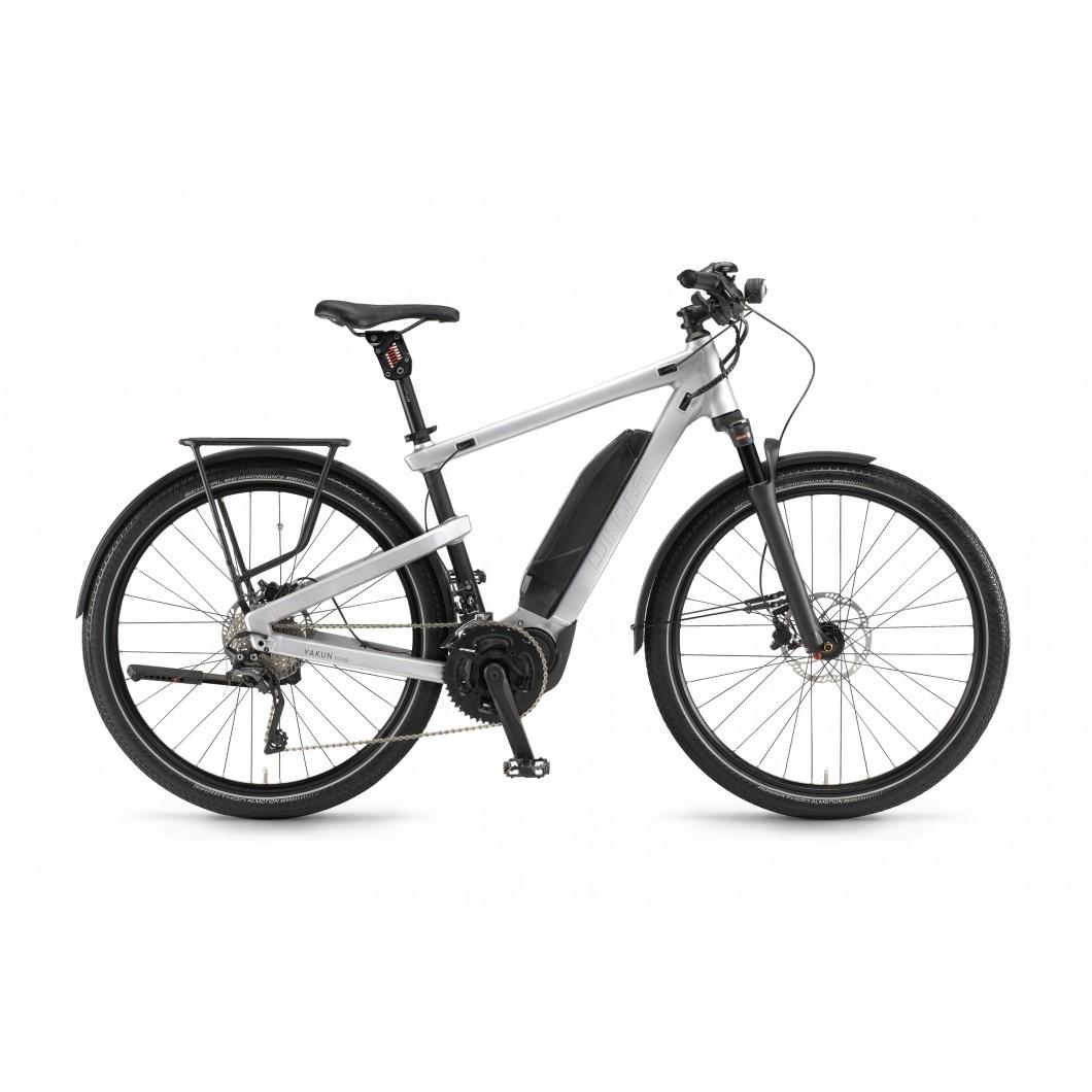 Vélo électrique WINORA Yakun tour 2017 • Spécial transport : fixation remorque intégrée au cadre