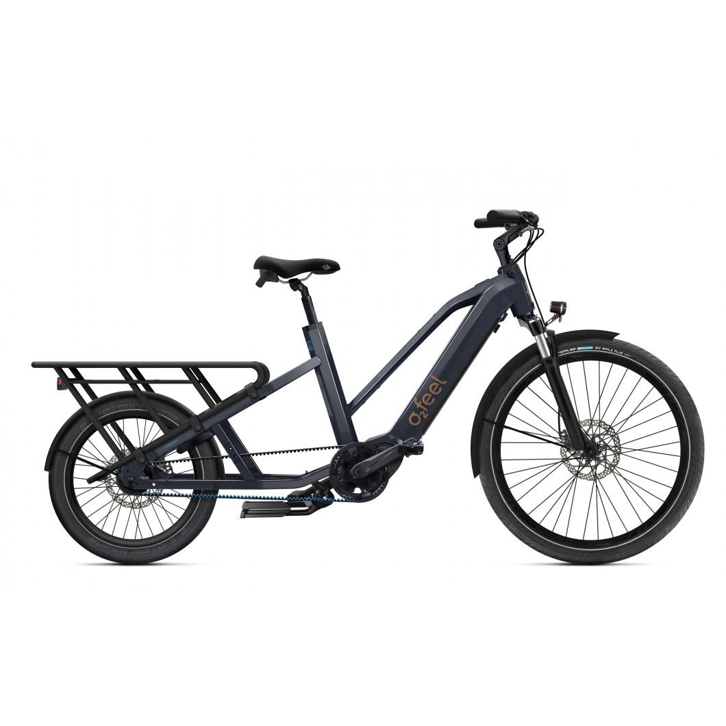 Vélo électrique longtail O2Feel Equo Cargo Power 7.1 2021 • Vélozen