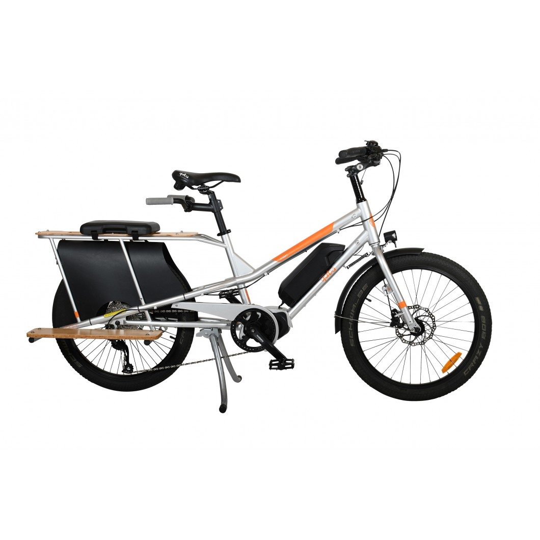 vélo-électrique -cargo-rallongé-Yuba-KOMBI-E5-2021
