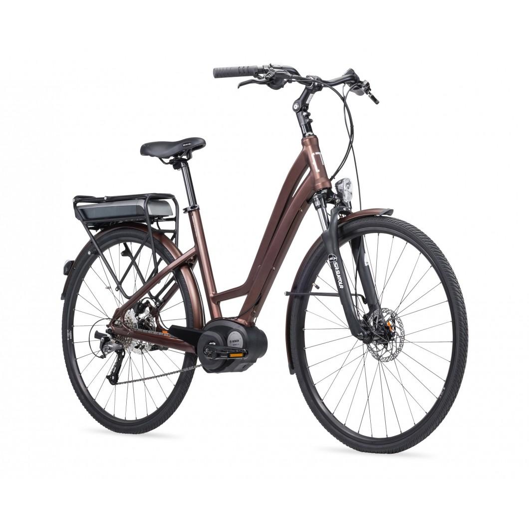 Vélo électrique MOUSTACHE SAMEDI 28 BROWN OPEN 9S 2017