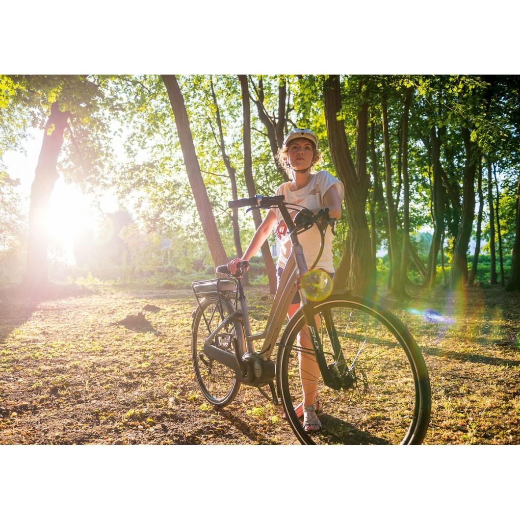 Vélo électrique MOUSTACHE SAMEDI 28 TITANIUM OPEN NUVINCI 2017
