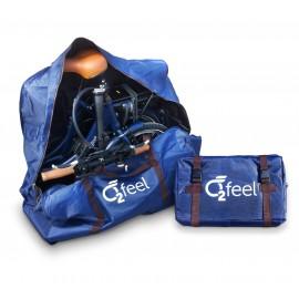 Housse sac de transport vélo électrique pliant pliant O2Feel Peps HOUSSE VÉLO