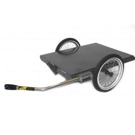 Remorque plateau pour vélo électrique ROLAND Carrie M.e fixation axe de roue arrière REMORQUE & CHARIOT