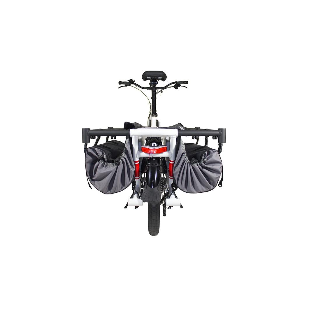 Sacoches Yuba 2-Go Cargo Bags pour vélo électrique cargo enfant Yuba Spicy Curry