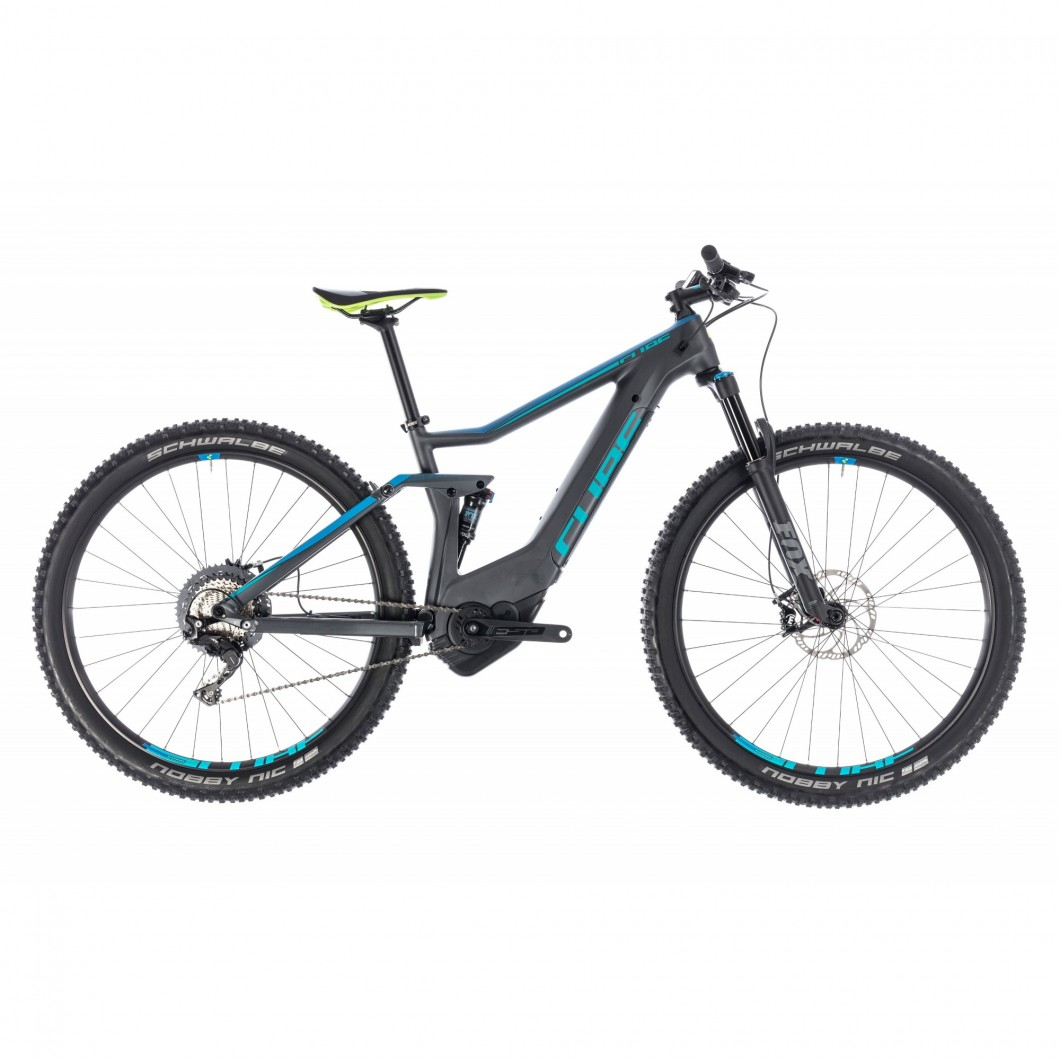 VTT ÉLECTRIQUE CUBE STEREO HYBRID 120 HPC Race 500 2018 • Vélozen