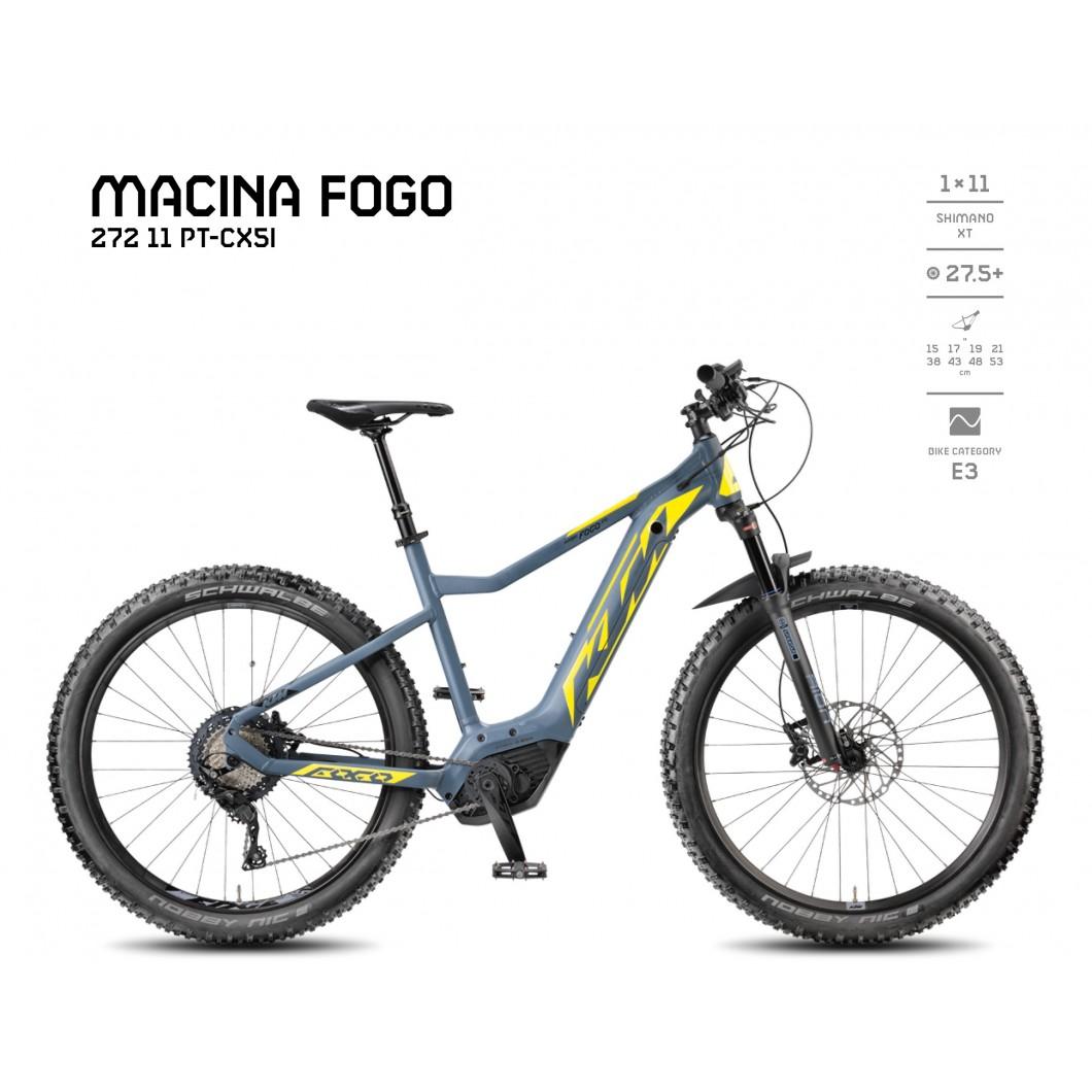 VÉLO ÉLECTRIQUE KTM MACINA FOGO 272 11 PT-CX5I 2018