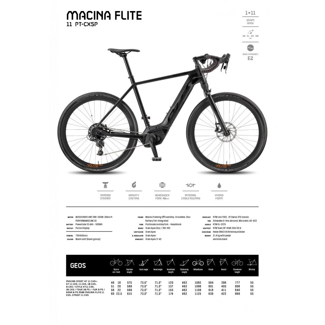 VÉLO ÉLECTRIQUE KTM MACINA FLITE 11 PT-CX5P 2018