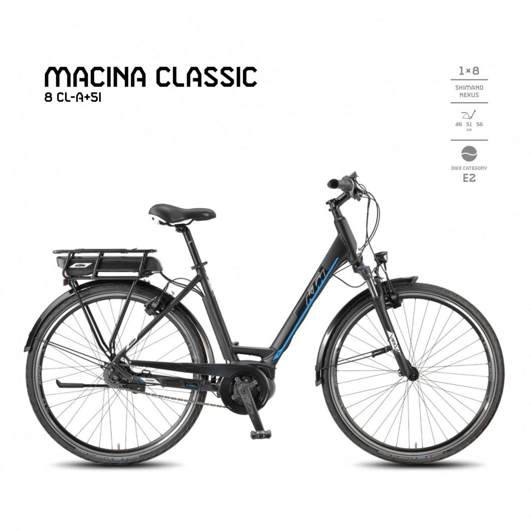 VÉLO ÉLECTRIQUE KTM MACINA CLASSIC 8 CL-A+5I 2018