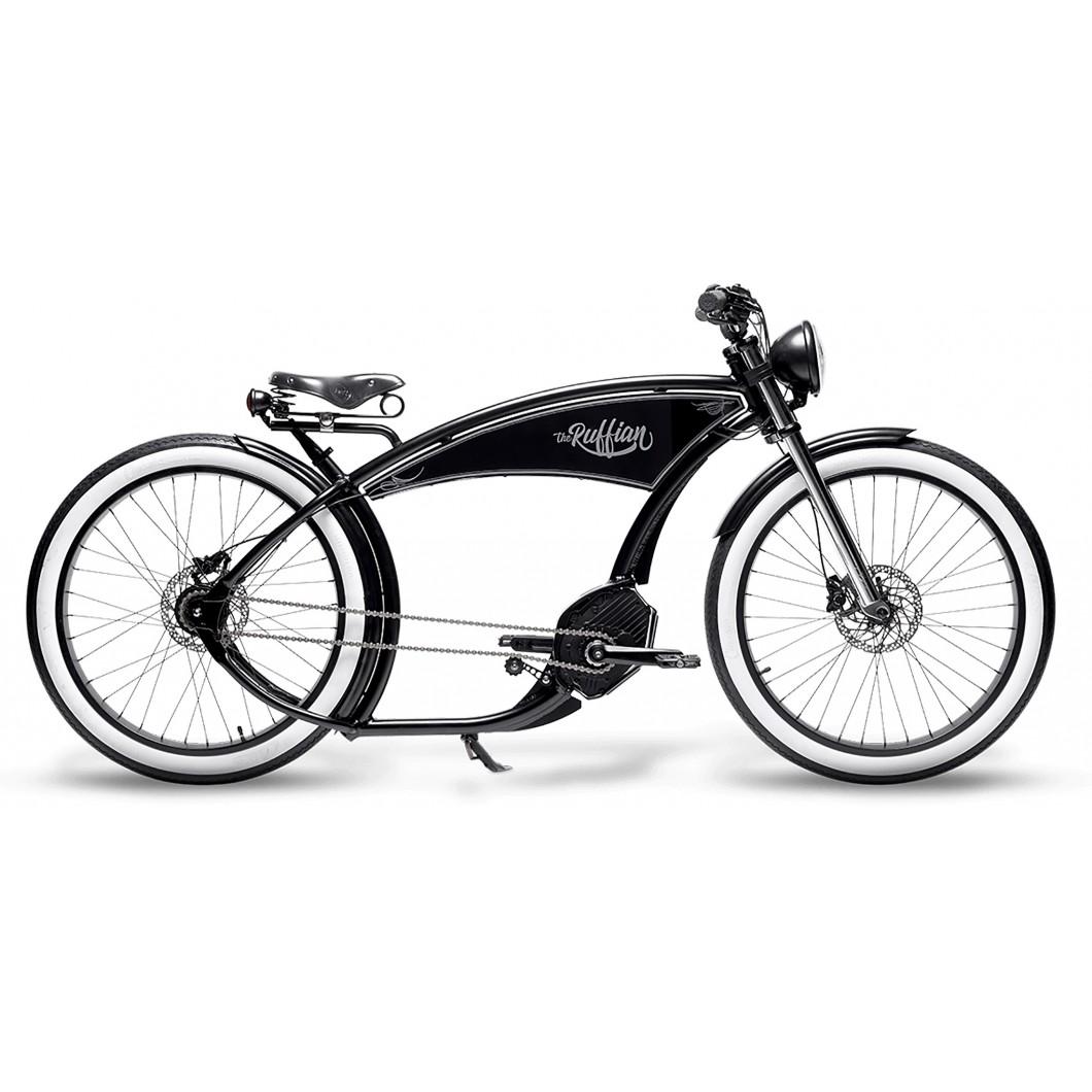 Vélo électrique Cruiser THE RUFFIAN Ruff-Cycles 2019 • Low Rider & Beach Cruiser