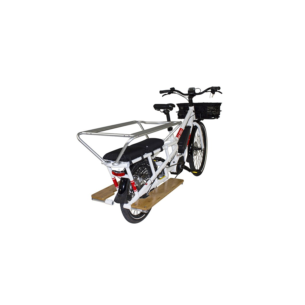 Vélo électrique rallongé cargo longtail YUBA Spicy Curry Bosch 2018