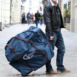 Housse sac de transport à roulettes vélo électrique pliant