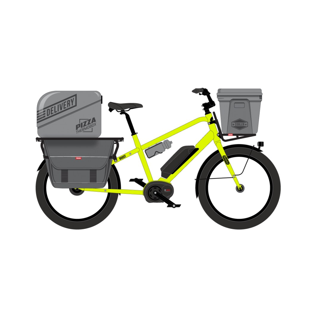 Vélo longtail électrique cargo Benno BOOST-e 2019