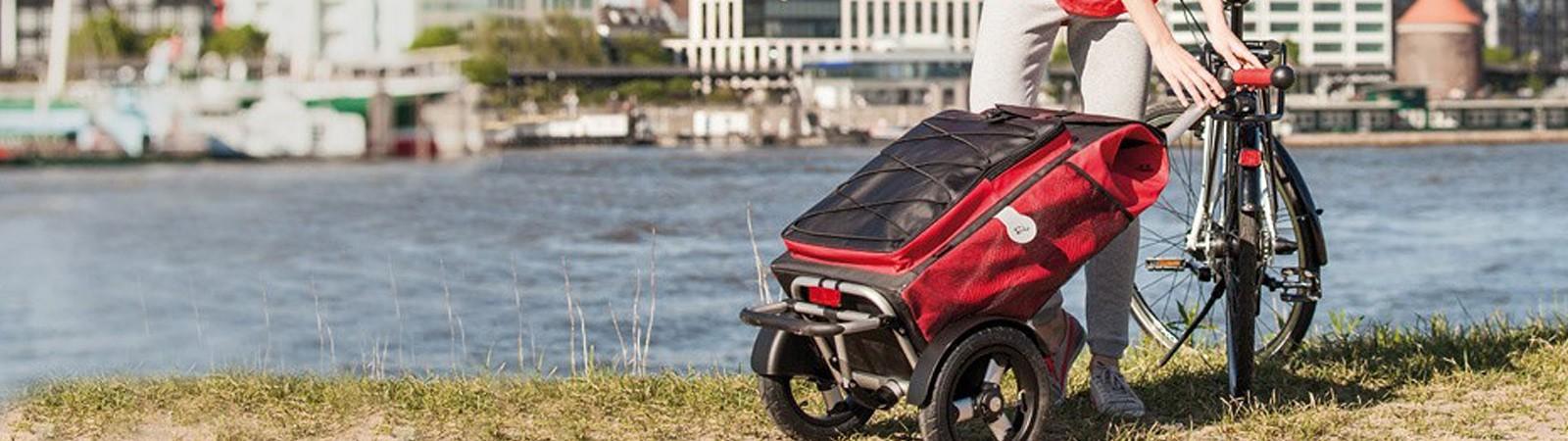 Remorque, chariot courses & caddie pour vélo électrique