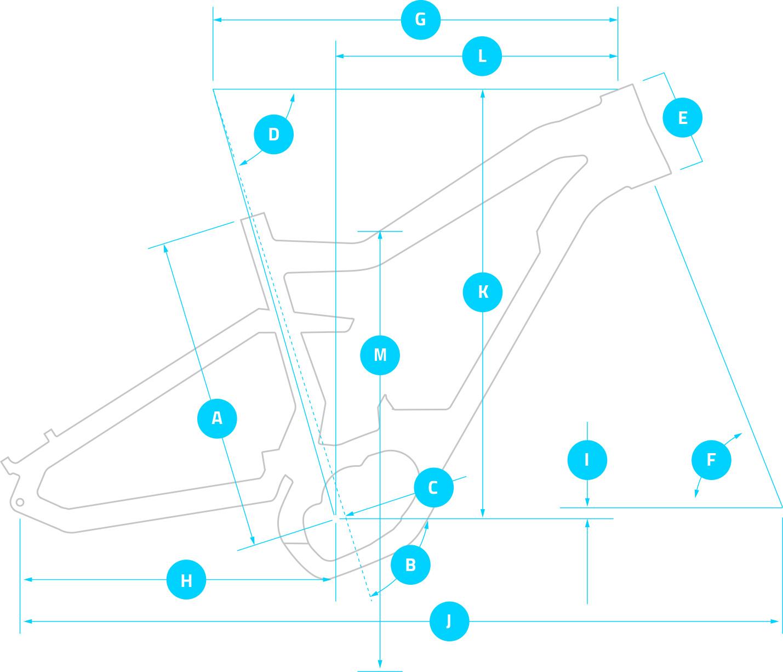 guide des tailles VTT électrique HAIBIKE VTTAE géométrie cadre